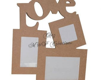 Collage of cardboard paper mache (38x30x1cm)