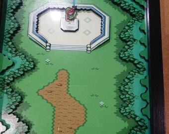 Zelda Link to the past snes diorama