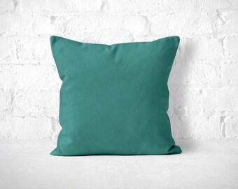 Teal Throw Pillow, Cute Throw Pillow, Accent Pillow, Teal Pillow Case, Teal Pillow, Minimalist Pillow, Pillow with insert, Teal Toss Pillow