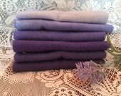 Purple Bundle: Colour Theory Bundles, Hand Dyed for Rug Hooking, Wool Applique, Penny Rugs and Rug Braiding