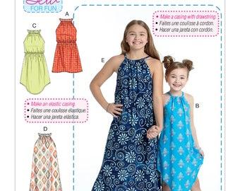 McCall's Sewing Pattern M7589 Children's/Girls' Gathered Neckline Sleeveless Dresses
