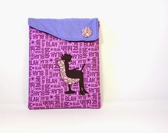Ipad case: Ipad cover - Ipad sleeve -Padded case - Purple case