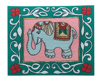indian Elephant Iron on Patch