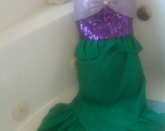 Adult Mermaid dress and crown