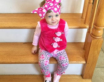 Polka Dot Headwrap- Pink Polka Dot Headband; Pink Polka Dot Bow; Pink Polka Dot Headwrap; Mommy and Me Headbands; Big Bow Headband; Bows
