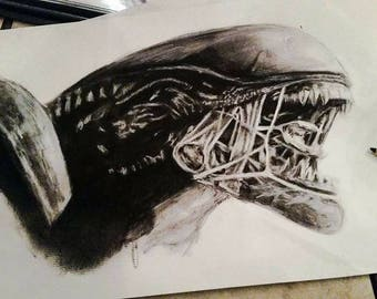 Alien Print and Original