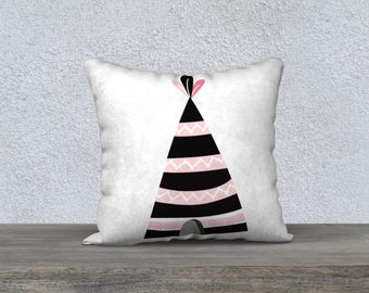 Cover of Pillow for kids, decor, illustration, black, white decorative pillow, cushion, pillows