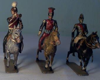 lead soldier on horseback/ lead figure Lead soldier toy