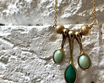 Green Drops Necklace
