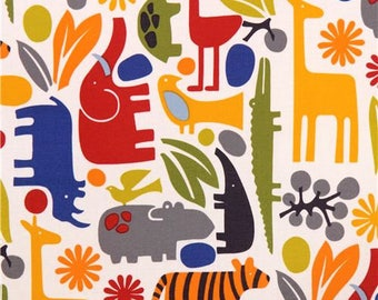 189723 2-D Zoo New Primary Alexander Henry animal laminate fabric