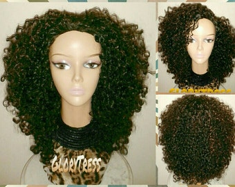 ON SALE // Celebrity Inspired Hairstyle, Kinky Curly Half Wig, Big Curly Afro Wig  // BLESSED