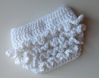 Crochet Pattern for Ruffle Bum Baby Diaper Cover - 3 sizes, Newborn Baby to 12 months - Welcome to sell finished items