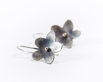 FLOWERS SILVER EARRINGS