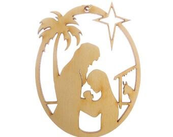 Nativity Ornament - Nativity Ornaments - Nativity Christmas Decor - Nativity Holiday Decor - Religious Ornaments - Religious Gift