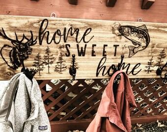 Outdoors coat rack
