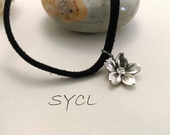 Sakura Silver Choker.Handmade Item. 99% Sterling Silver Necklace.Original and Exclusive Design.Artisan Handmade by SYCL.