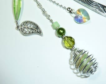 """Large bookmark silver jewelry """"nature"""" beads"""