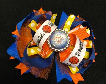 OKC Thunder Basketball Boutique Hair Bow