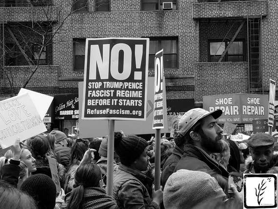 """NO!,"" New York City Women's March, 2017."