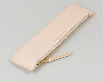 Handmade Natural Veg Tan Leather LeadorDead Pencil Case