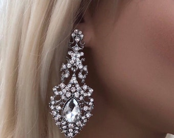 Crystal Statement Chandelier Earrings