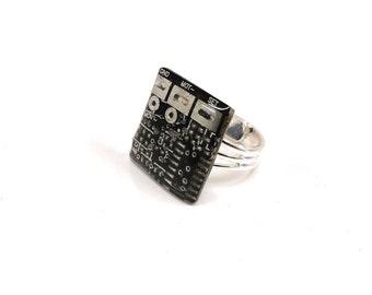 Black Circuit Board Ring