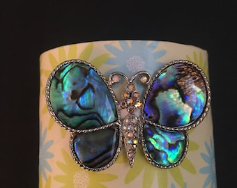 Handmade Cuff Bracelet with Butterfly Accent