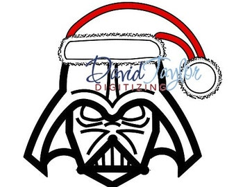 Darth Vader Santa - Embroidery Machine Design - Applique - Instant Download - David Taylor Digitizing