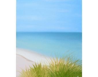 Beach Painting, 11 x 14, Oil Painting, Original Art, Beach Painting, Tropical Painting, Landscape Painting, Beach House Art, Ocean Art