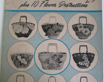 "Vintage Craft Booklet of "" Art Foam Tote Bag Creations'""   How to booklet 1961   used 24 pages"