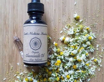 Organic German Chamomile Oil *Anti-Inflammatory *Calming *Soothes Muscle Aches and Pain