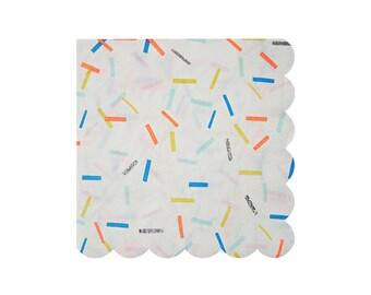 Toot Sweet Sprinkles Large Paper Napkins by Meri Meri, Party Supplies, Tableware