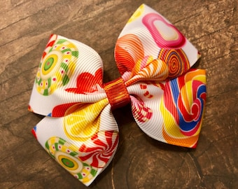 lollipop candy bow, hair bows, hair clips, girls hair bows, hair bows for girls, boutique bows, kids bows