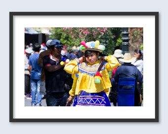 Carnival Girl in Arequipa | Peru photography | Fine art prints | Unframed print | South American and World travel prints