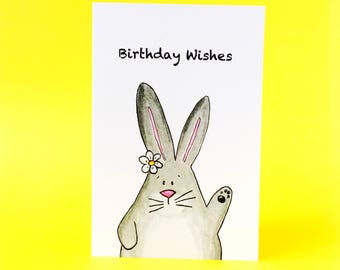 Birthday Wishes bunny card