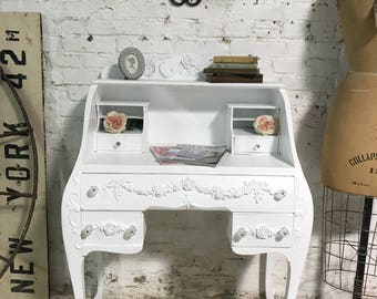 Painted Cottage Prairie Chic One of a Kind Vintage Desk
