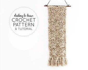 CROCHET PATTERN & TUTORIAL × Eleanor Wall Hanging × diy Bohemian Home Decor × Beginner Friendly Step By Step Photos and Video Tutorial