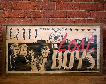 The Lost Boys Lobby Board. Hand Painted. Original Design
