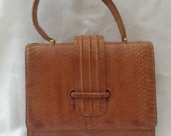 REDUCED - Vintage Snake Skin Bag