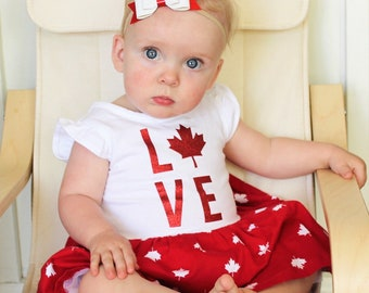 Canada Day Bows||Independence Day Bows||Little Girl||Baby Girl||Clip||Headband