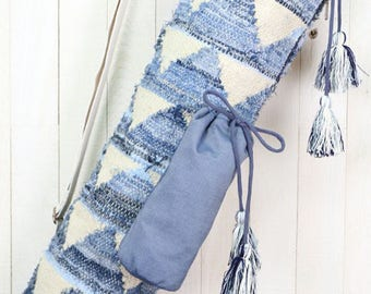 Denim Yoga Mat Bag | Bohemian Chic Yoga Bag