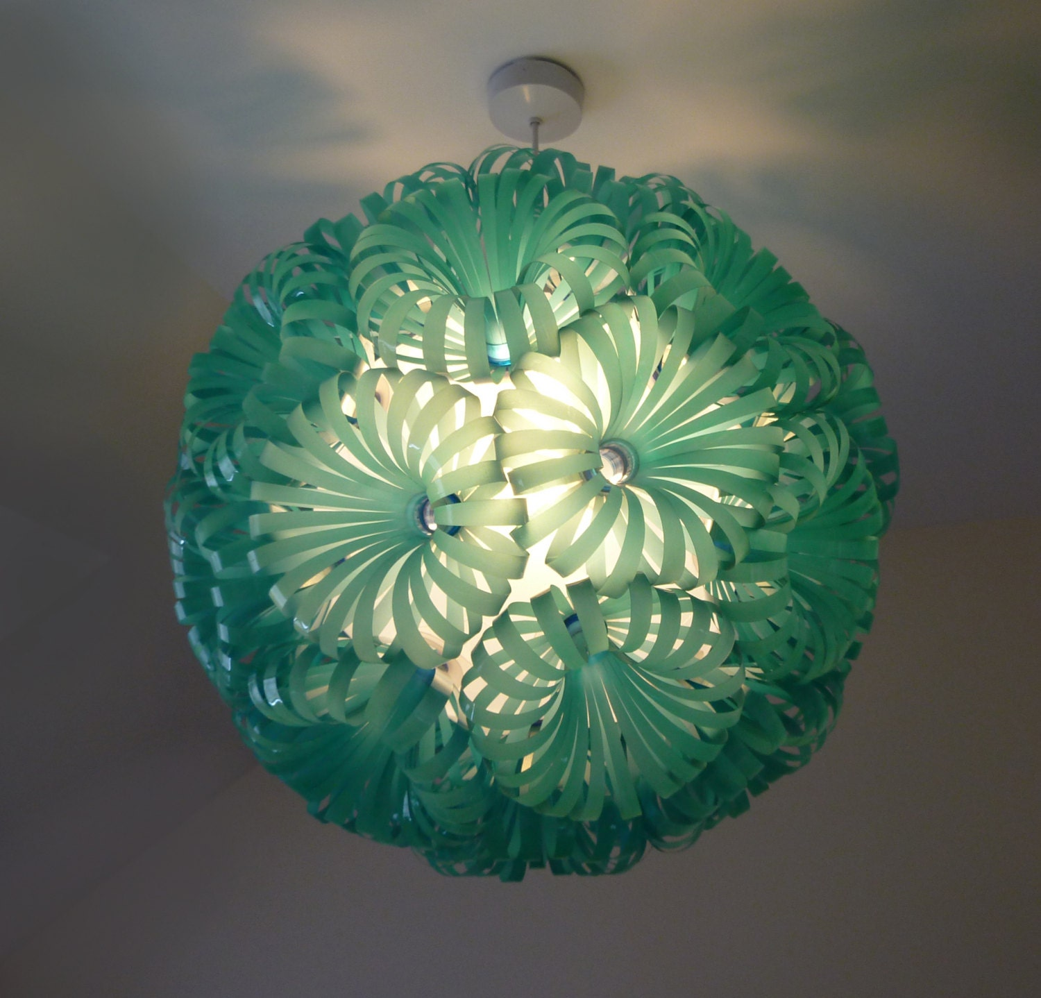 Plastic bottle chandelier light database light ideas cola 30 plastic bottle ceiling light arubaitofo Images