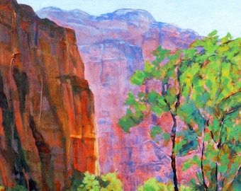 Zion Morning Light 5x7 Blank Art Photo Greeting Card with Envelope