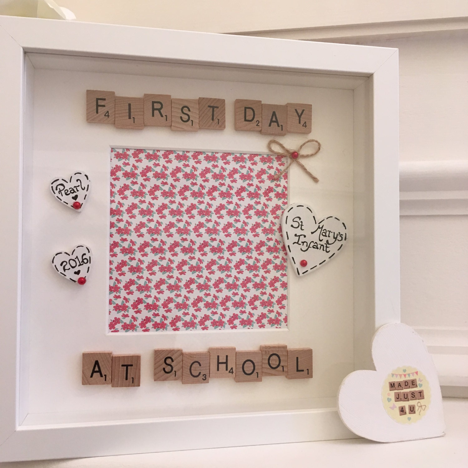 First Day Frame Personalised First Day At School Gift