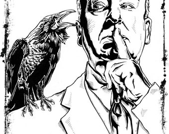 Alfred Hitchcock Master of Suspense Film Art Print Poster 18 x 24