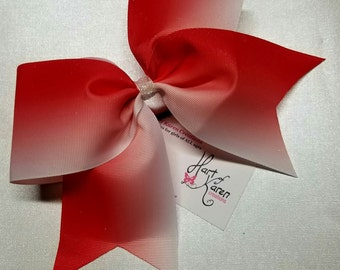 Red ombre cheer bow