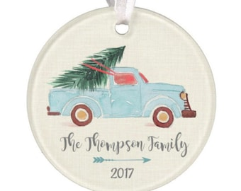 Personalized Christmas Ornament, Truck Ornament, Christmas Truck Ornament, Ryelle, Wedding Ornament, Chistmas Ornament, Truck Ornament, Baby