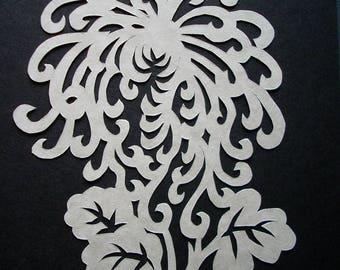 Chrysanthemum Scherenschnitte