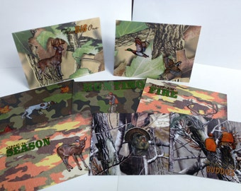 Hunting/ Camo Blank Note cards 8ct