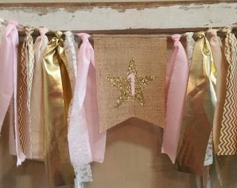 Twinkle Twinkle Little Star Banner, Twinkle Twinkle Banner, Star Garland, Star Decorations, Pink Gold Star Garland, Twinkle Twinkle Sign
